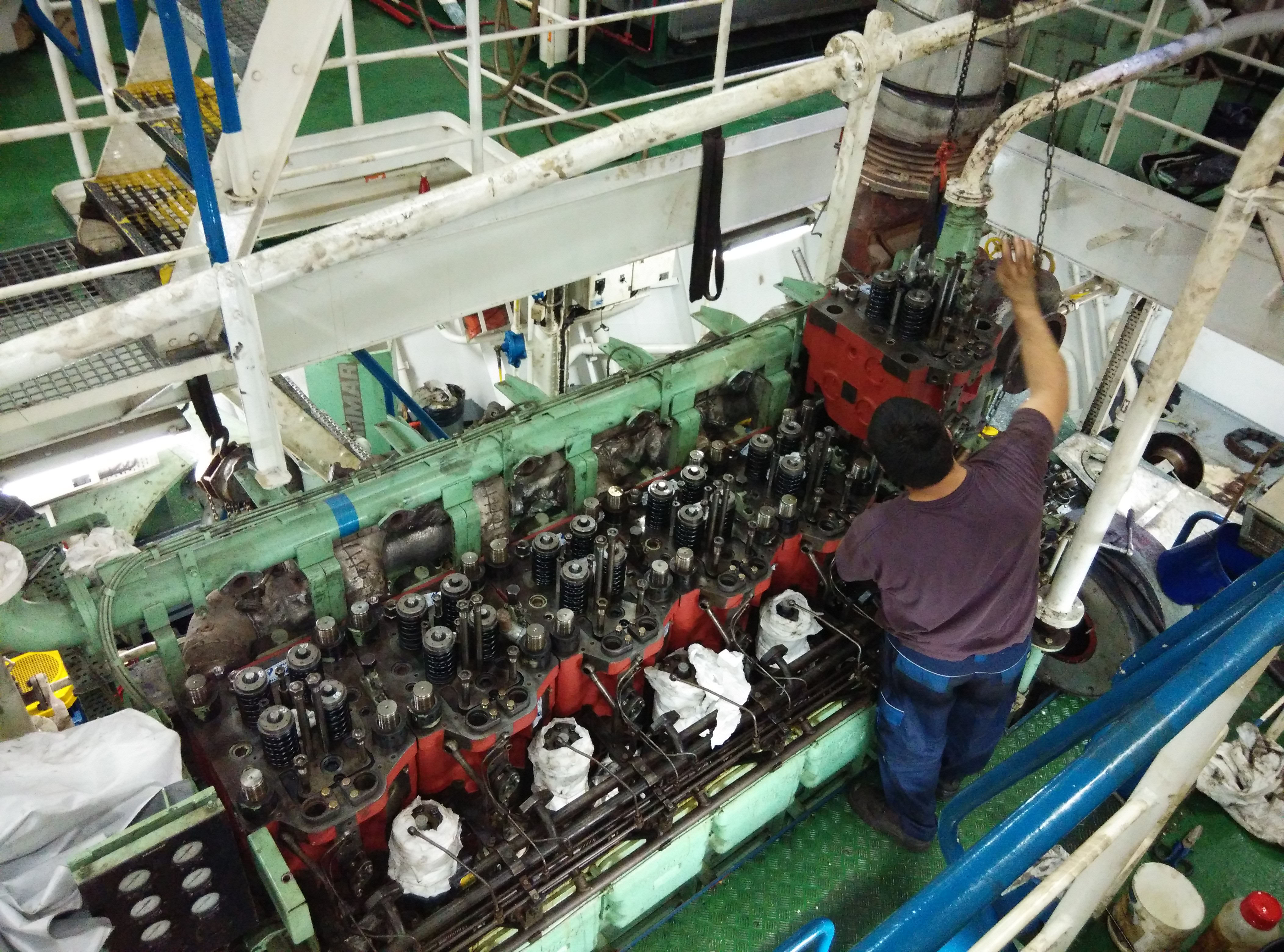 Image result for overhauling aux engine wartsila